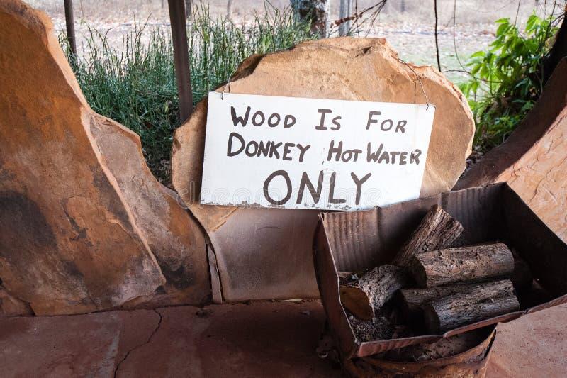 Pile en bois marqu?e pour l'usage dans le syst?me d'eau chaude d'?ne images libres de droits