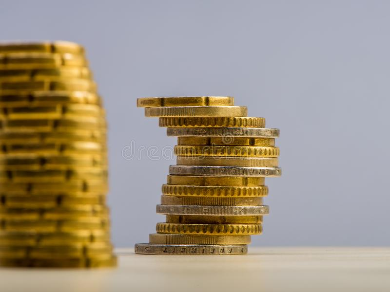 Pile of euro cents. Euro money. Currency of the European Union royalty free stock images