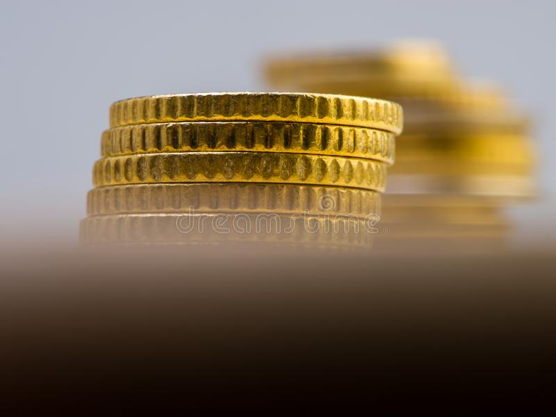 Pile of euro cents. Euro money. Currency of the European Union royalty free stock photos