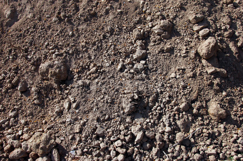 pile the excavated grey brown soil and dirt closeup royalty free stock image