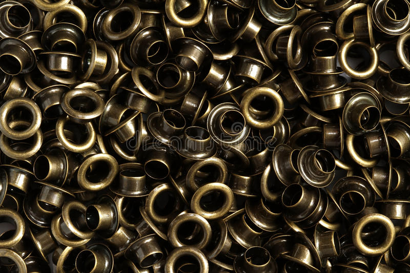 Download Pile of eyelet stock photo. Image of brass, object, manufacturing - 32085294