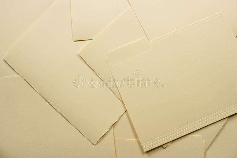 Pile of File Folders royalty free stock images