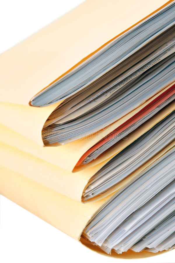 Pile of Files stock photo
