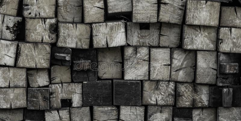 Pile of firewood with rustik texture royalty free stock photos