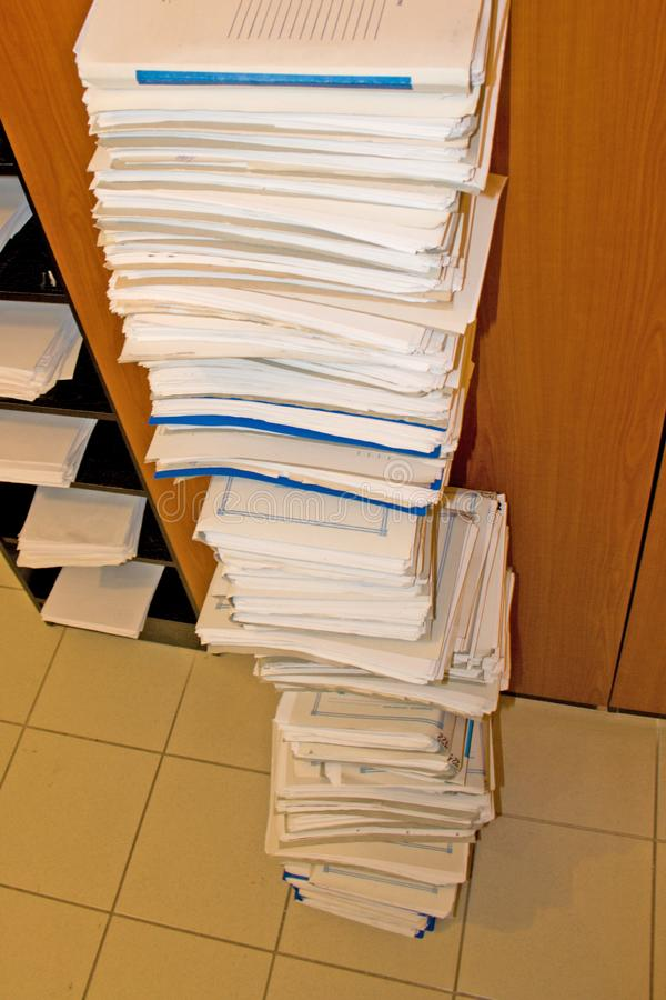 Pile Of Folders Stock Photography