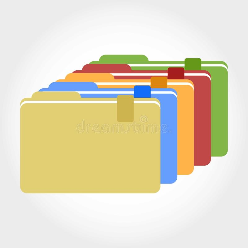 Pile of Folders Icon. Pile of Folders. . Icon stock illustration