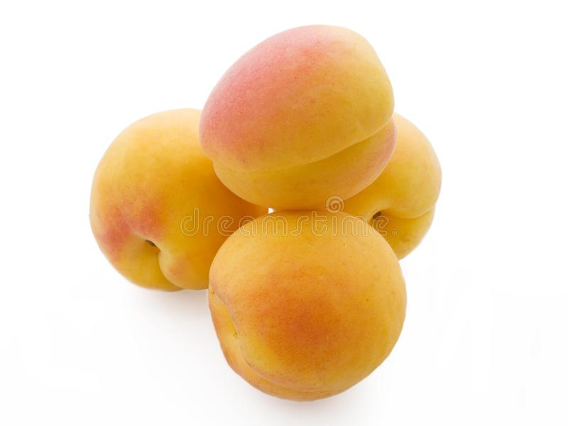Download Pile Of Fresh Apricots Isolated On White Stock Image - Image: 5818925
