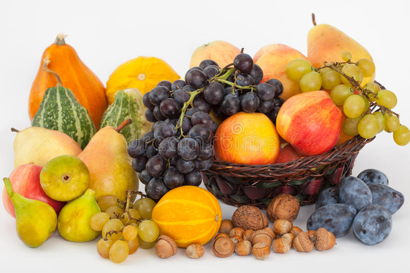 Pile of fresh fruits stock photography