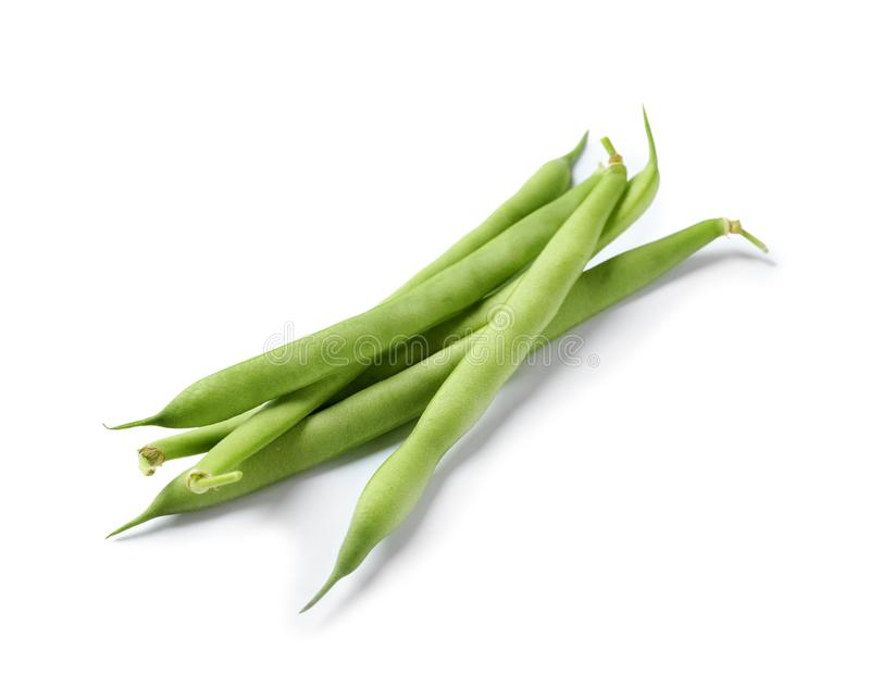 Pile of fresh green beans stock images