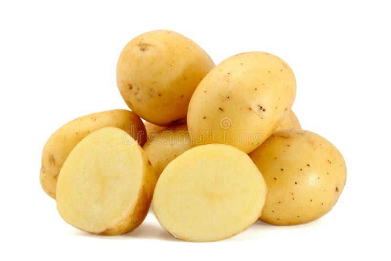 Pile of fresh potatoes stock image