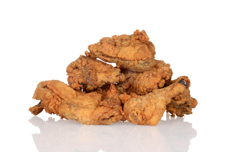 Pile of fried chicken stock photos