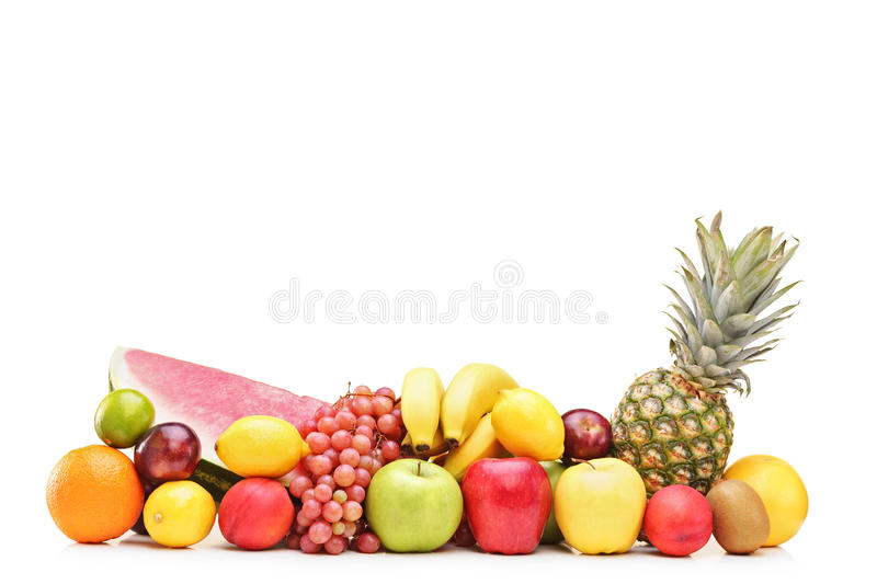 Pile of fruits on a table