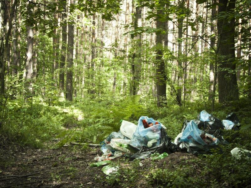 Pile of garbage stock photo