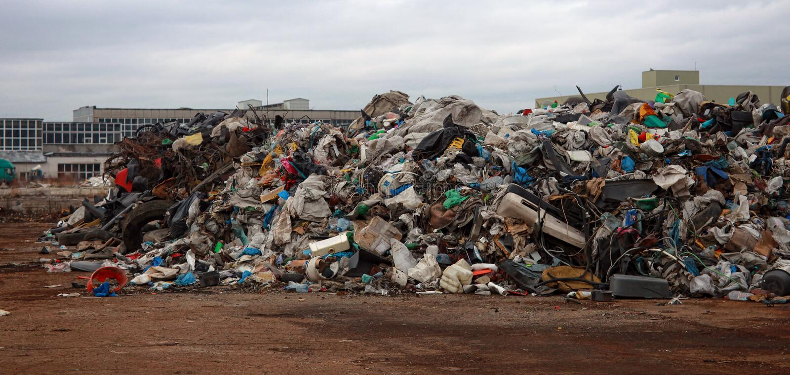 Pile of garbage from plastic royalty free stock photo