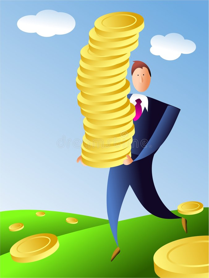 Pile of gold vector illustration