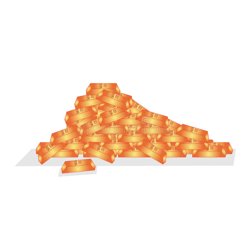 Pile of Gold Bars royalty free stock photo