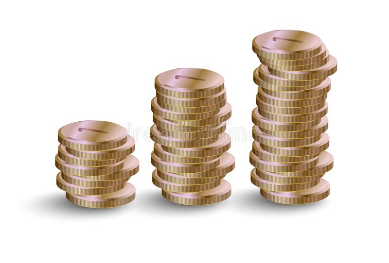 Pile of gold coins. Cartoon picture vector illustration