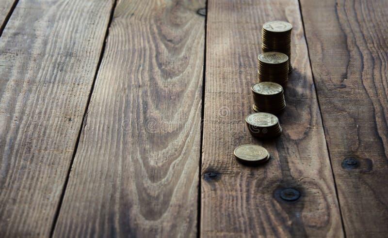 A pile of gold coins stock photos