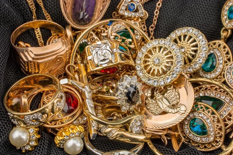 558 Pile Gold Jewelry Black Photos - Free & Royalty-Free Stock Photos from  Dreamstime
