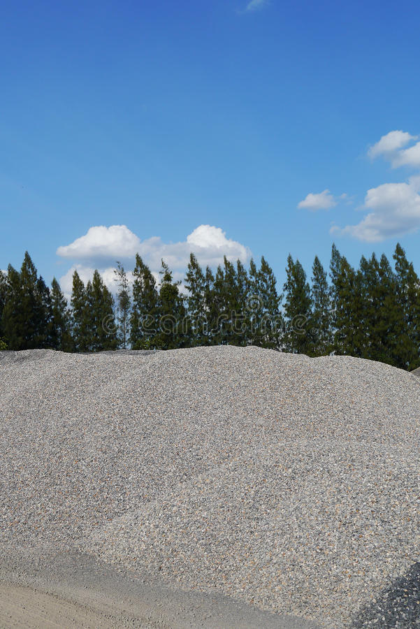 Pile Of Gravel,crushed Stones Material ,Asphalt Plant , Thailand Stock Images