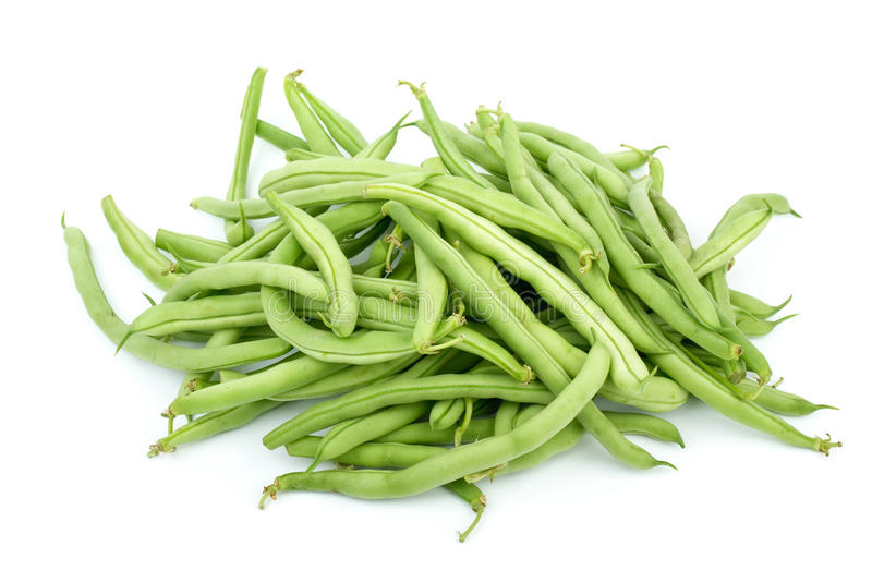 Pile of green french beans stock photography