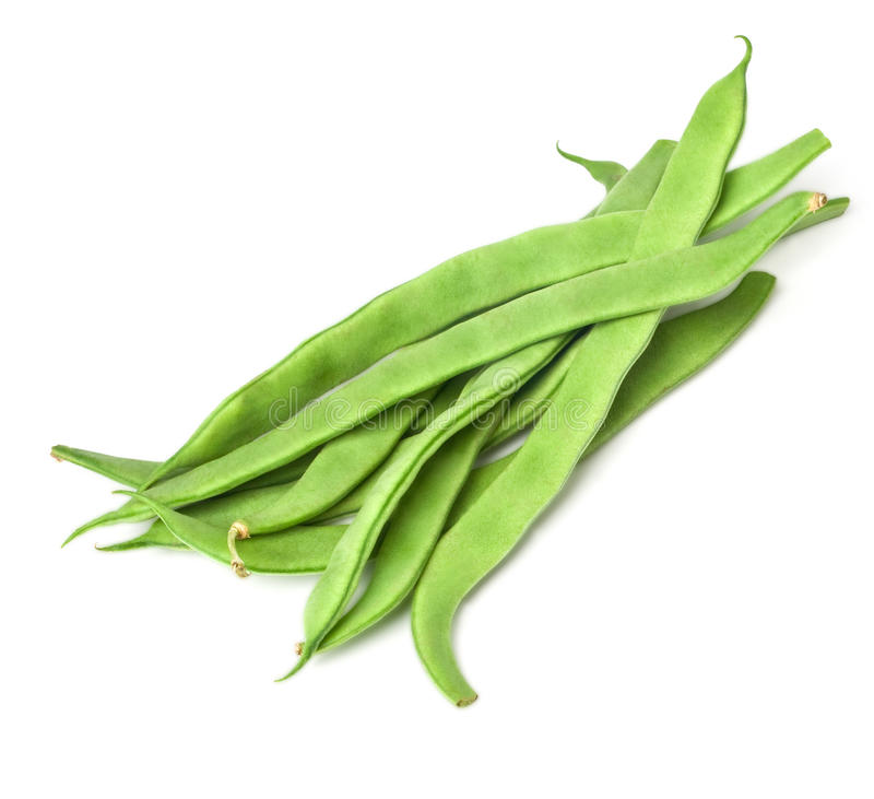 Pile of green french beans royalty free stock photography