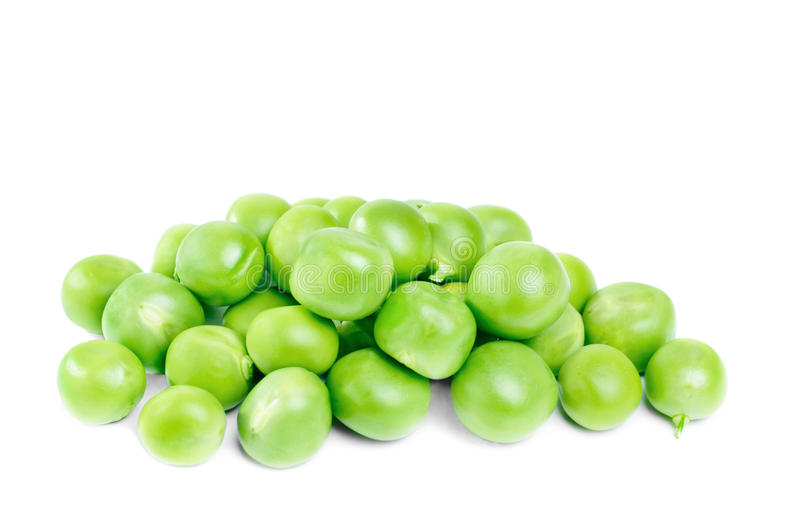 Pile Of Green Peas  On The White Royalty Free Stock Image