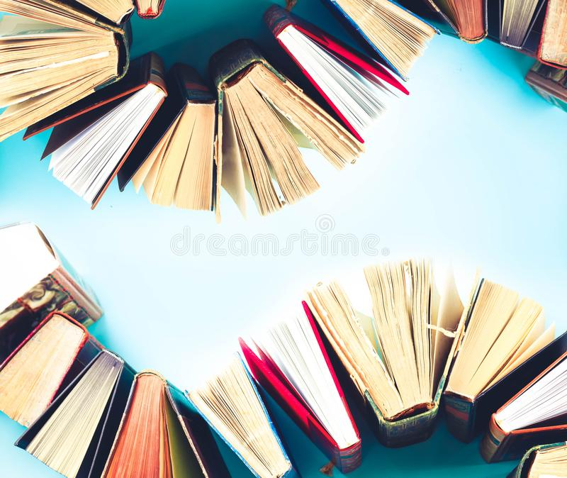 pile of old books stock photo image of information 121669242
