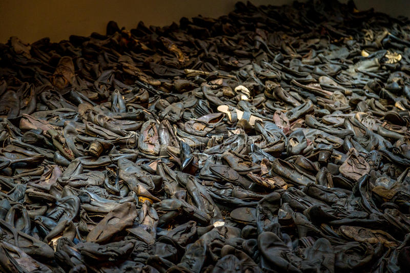Pile of Holocaust Shoes stock image. Image of pile