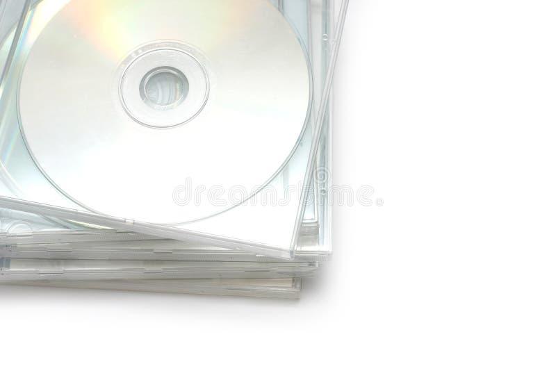 Pile II de caisse de bijou CD images libres de droits