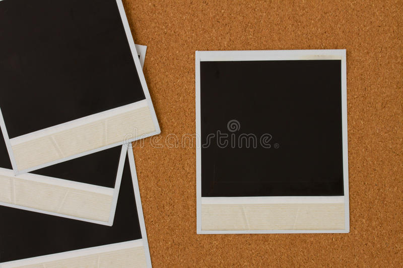 Download Pile Of Instant Photo On Cork Stock Photography - Image: 29745992