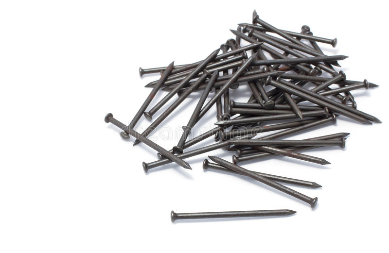 Pile of iron nail stock photo. Image of abstract, iron - 30644396