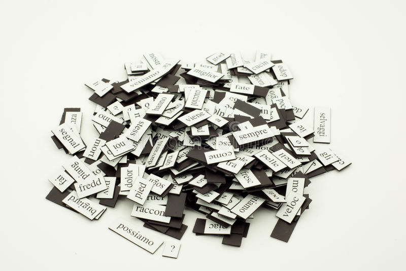 Download Pile Of Italian Words Stock Photo - Image: 16183070