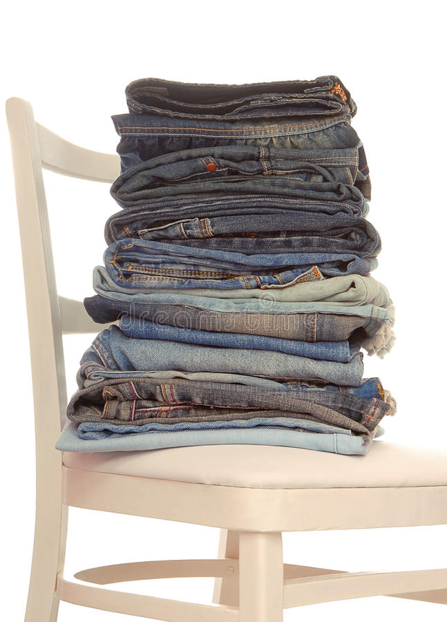 A pile of jeans royalty free stock images