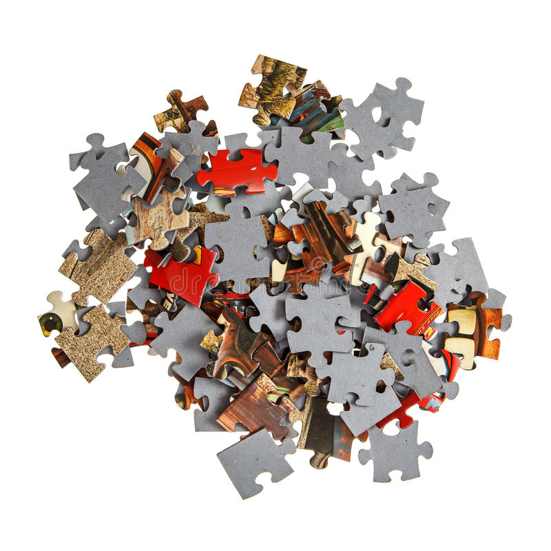 Download Pile Of Jigsaw Pieces Stock Image Colorful