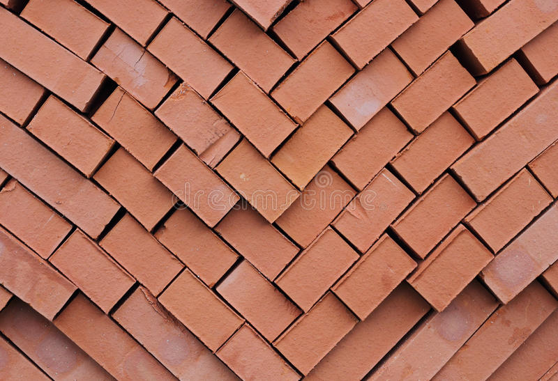 A pile of kiln bricks. A pile of kiln fire refractory bricks royalty free stock photo
