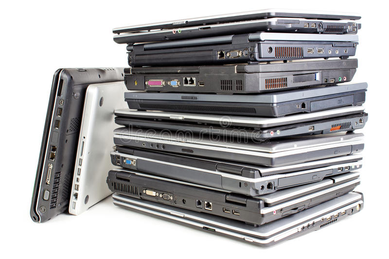 Download Pile of laptops stock photo. Image of several, white - 24534436