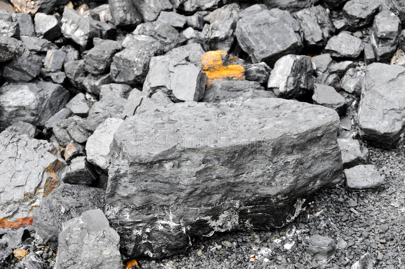 Stockpile of Coal royalty free stock image