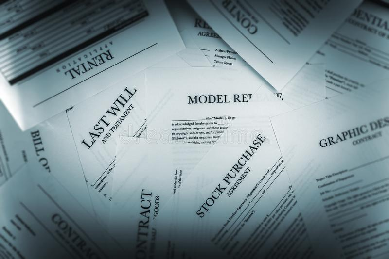 Pile of Legal Documents stock photography