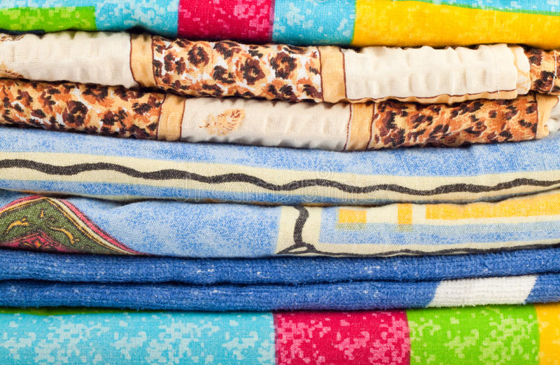 Download Pile of linen stock photo. Image of blue, sample, napkins - 18370234