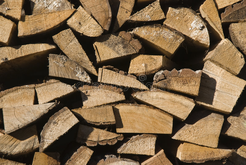 Pile of log wood stock photography