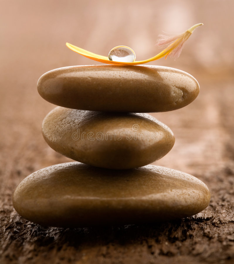 Pile of massage stones royalty free stock photography