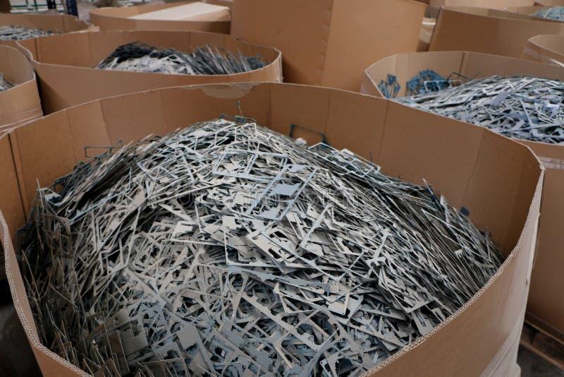 Pile massive de mitraille ou de plastique photo libre de droits