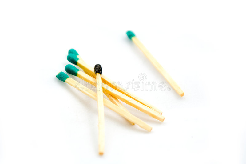 Pile Of Matches Stock Photography