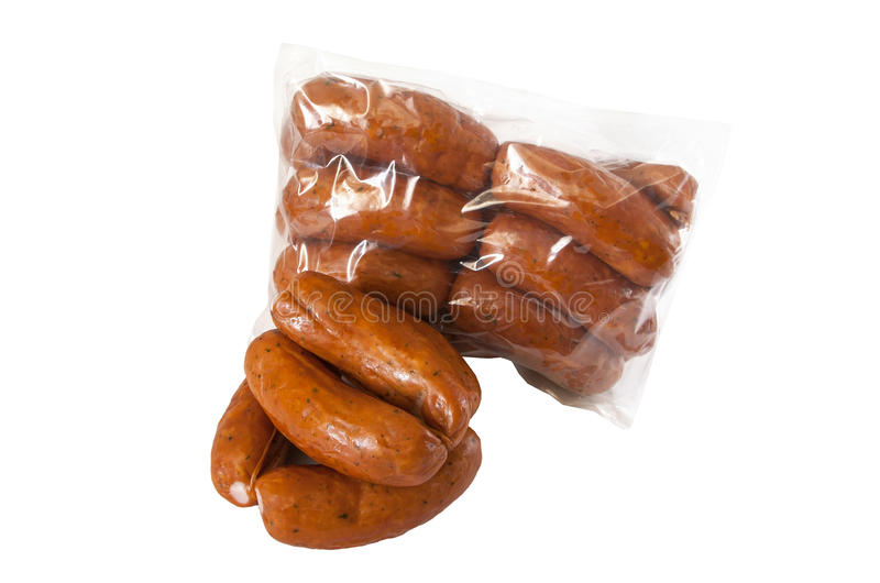 Download Pile Meat Flavour Sausages On White Stock Image - Image: 25870543