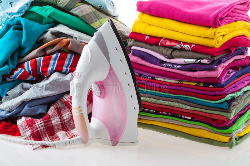 Download Pile Of Messy And Ironed Loundry Stock Images - Image: 28077664