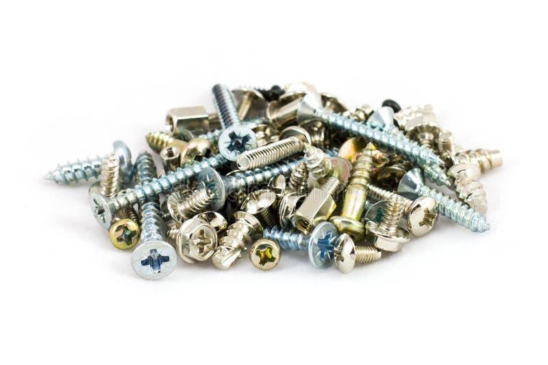 Download Pile Of Metal Screws  On White Stock Photo - Image: 21964440