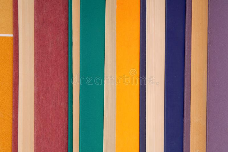Pile of multicoloured books, bunch of multicolored books, heap o royalty free stock photo