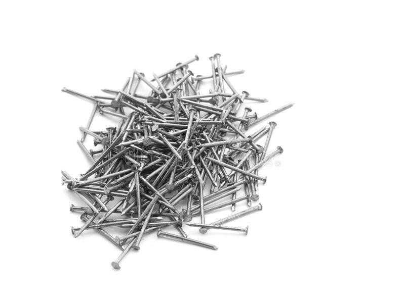 A pile of nails