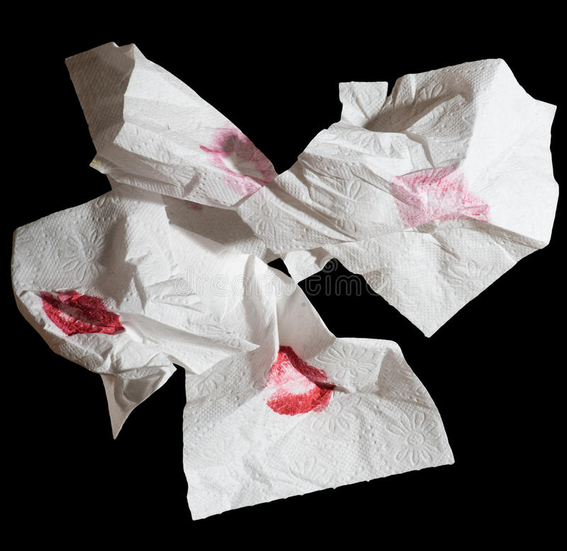Pile of napkins royalty free stock photography